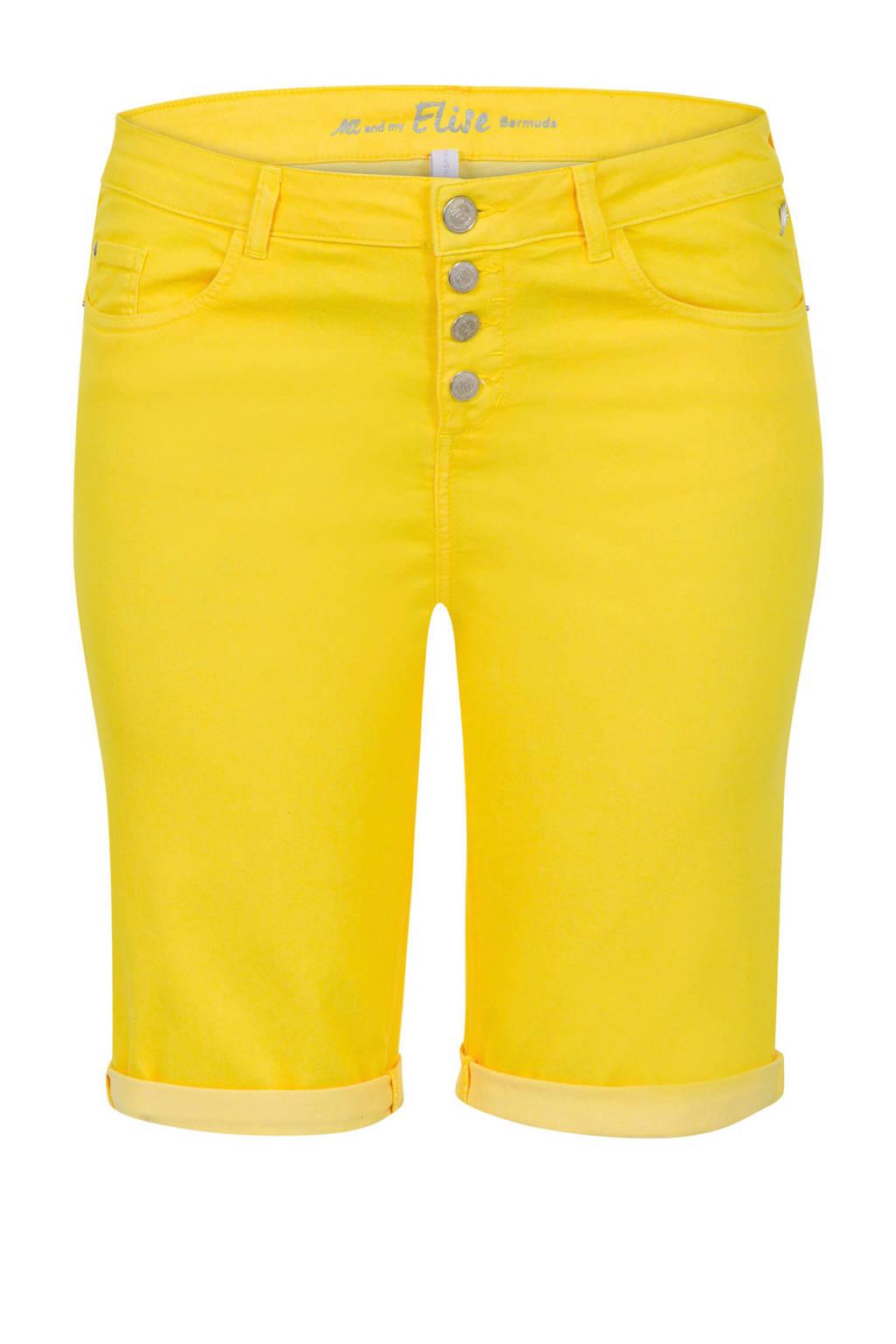 Miss Etam Plus bermuda geel, Geel