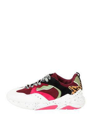 sneakers bordeauxrood/wit