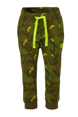 tapered fit joggingbroek met camouflageprint legergroen