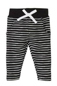 4PRESIDENT baby gestreepte slim fit broek Timothy zwart/wit, Zwart/wit