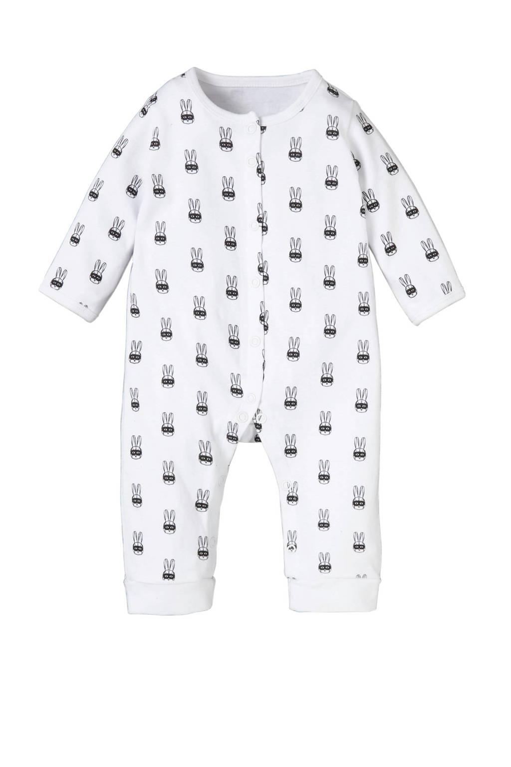 4PRESIDENT baby boxpak Roman met all over print wit, Wit