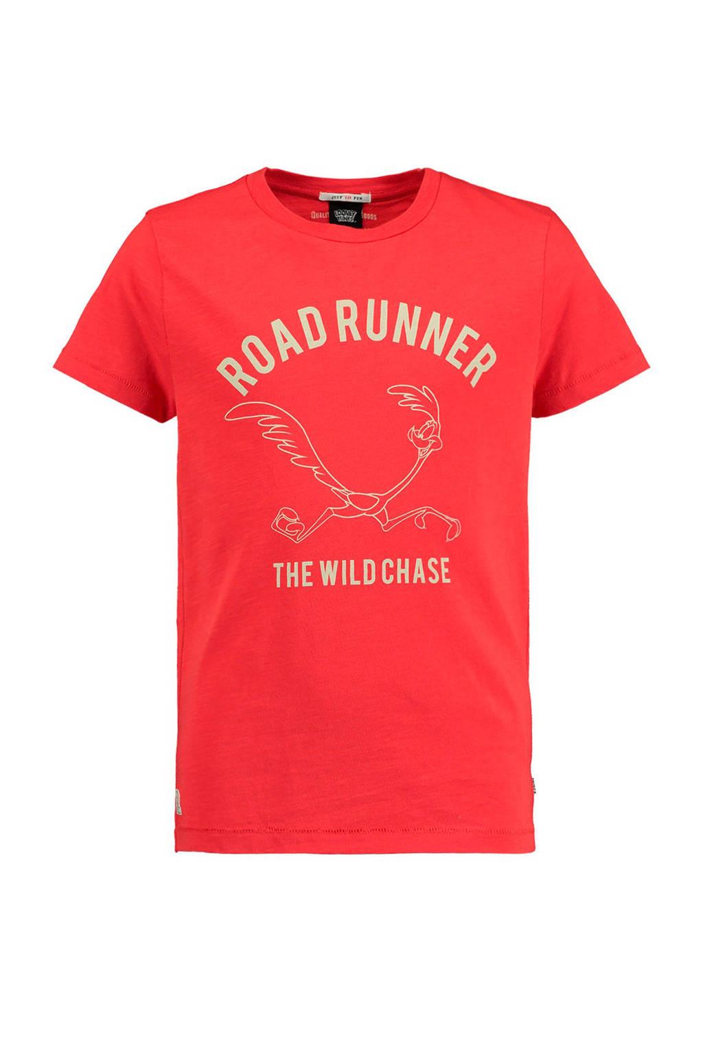 America Today Junior T-shirt Ean met printopdruk rood, Rood