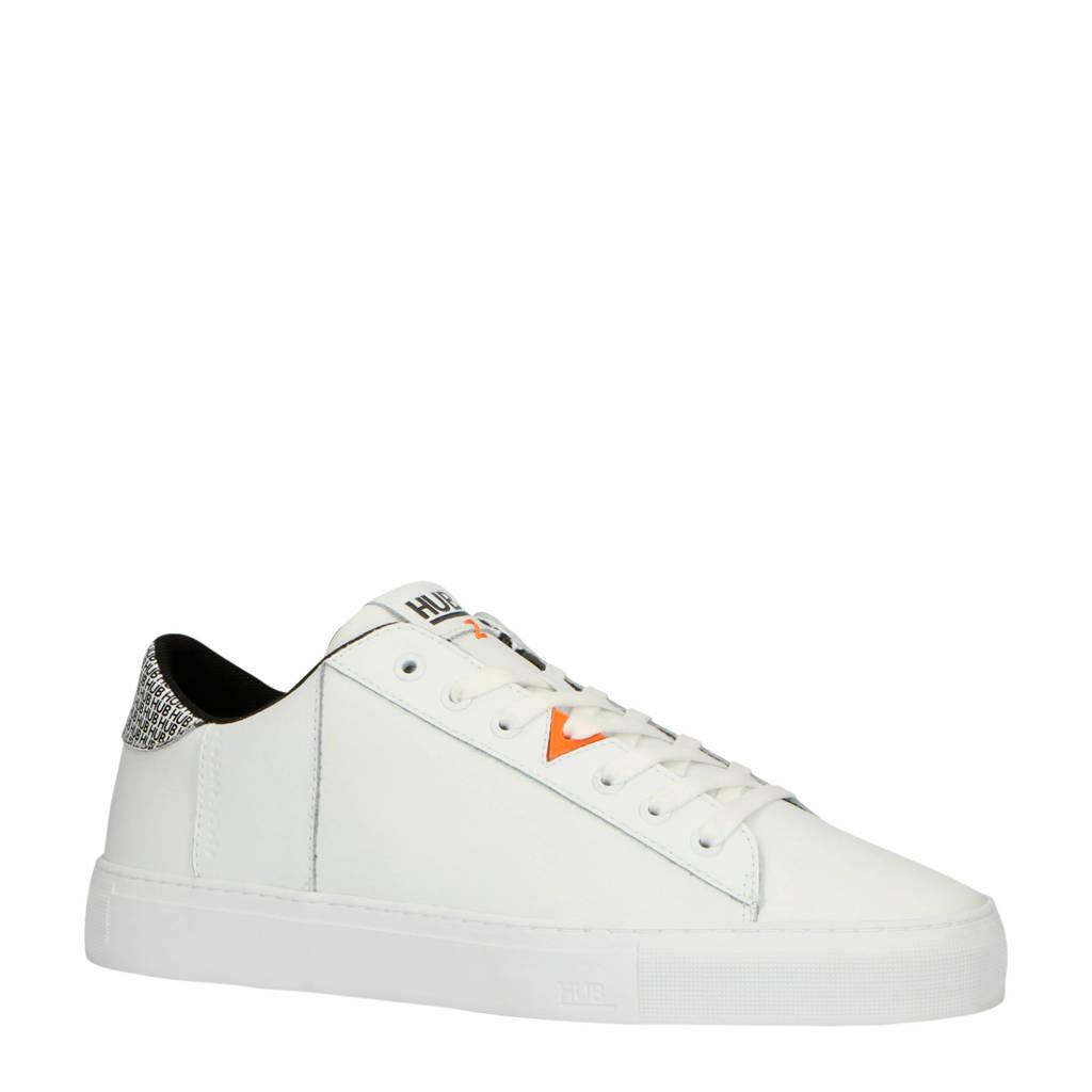Hub  Hook-M CS sneakers wit, Wit/zwart