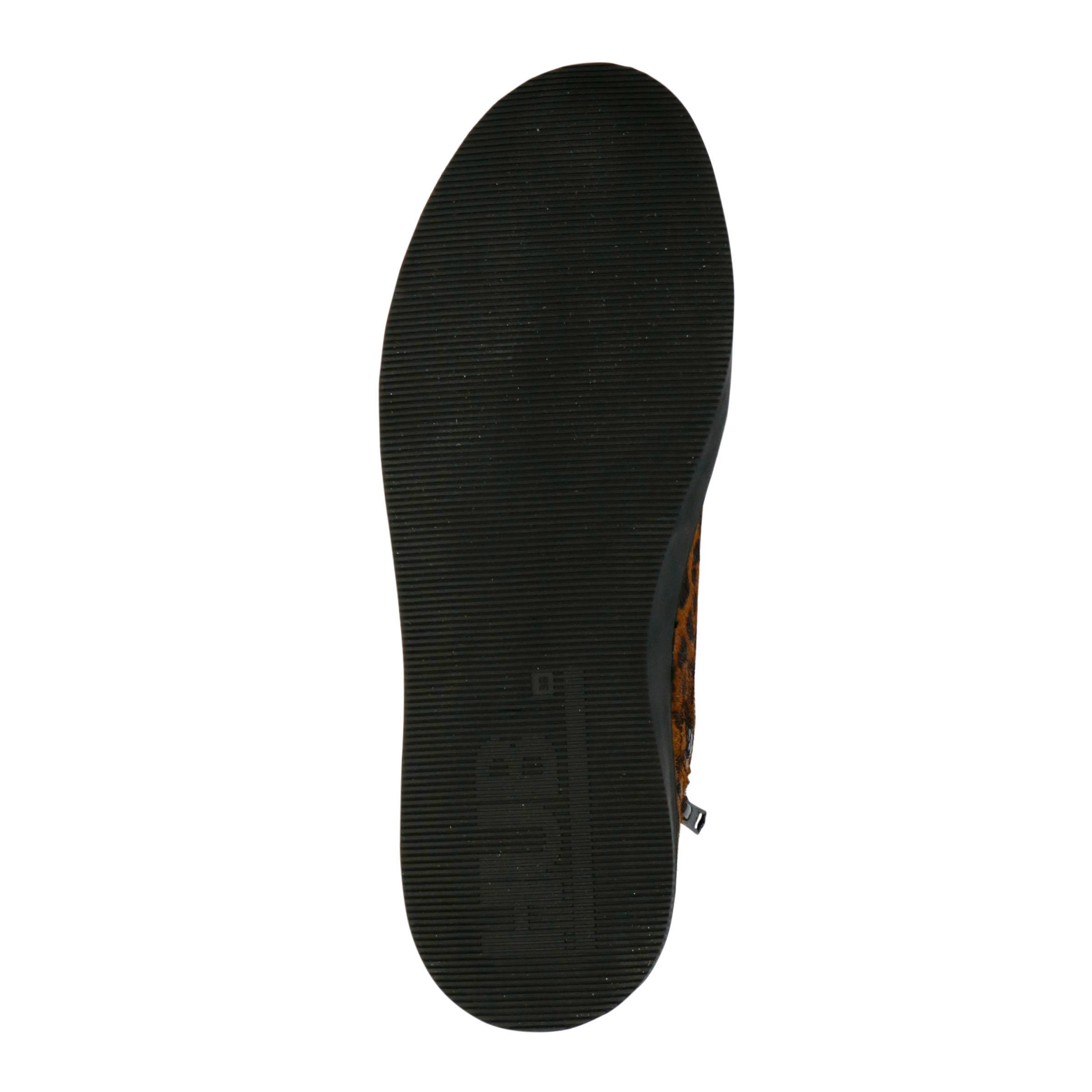 Hub Subway-W XL leren sneakers panterprint