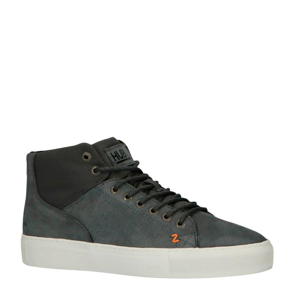 Hub   Murrayfield 2.0 N33 leren sneakers grijs, Grijsblauw
