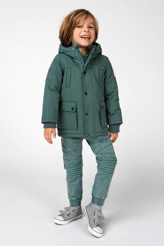 Noppies winterjas Beaumont met 3D applicatie groen, Groen