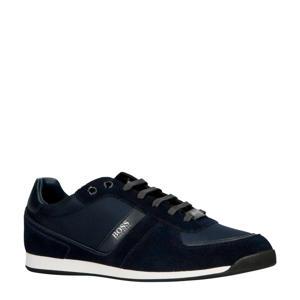 Glaze suède sneakers donkerblauw