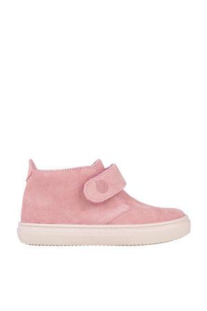 W10196  suède sneakers roze