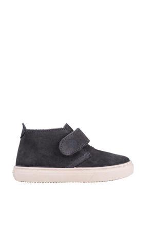 W10196  suède sneakers antraciet