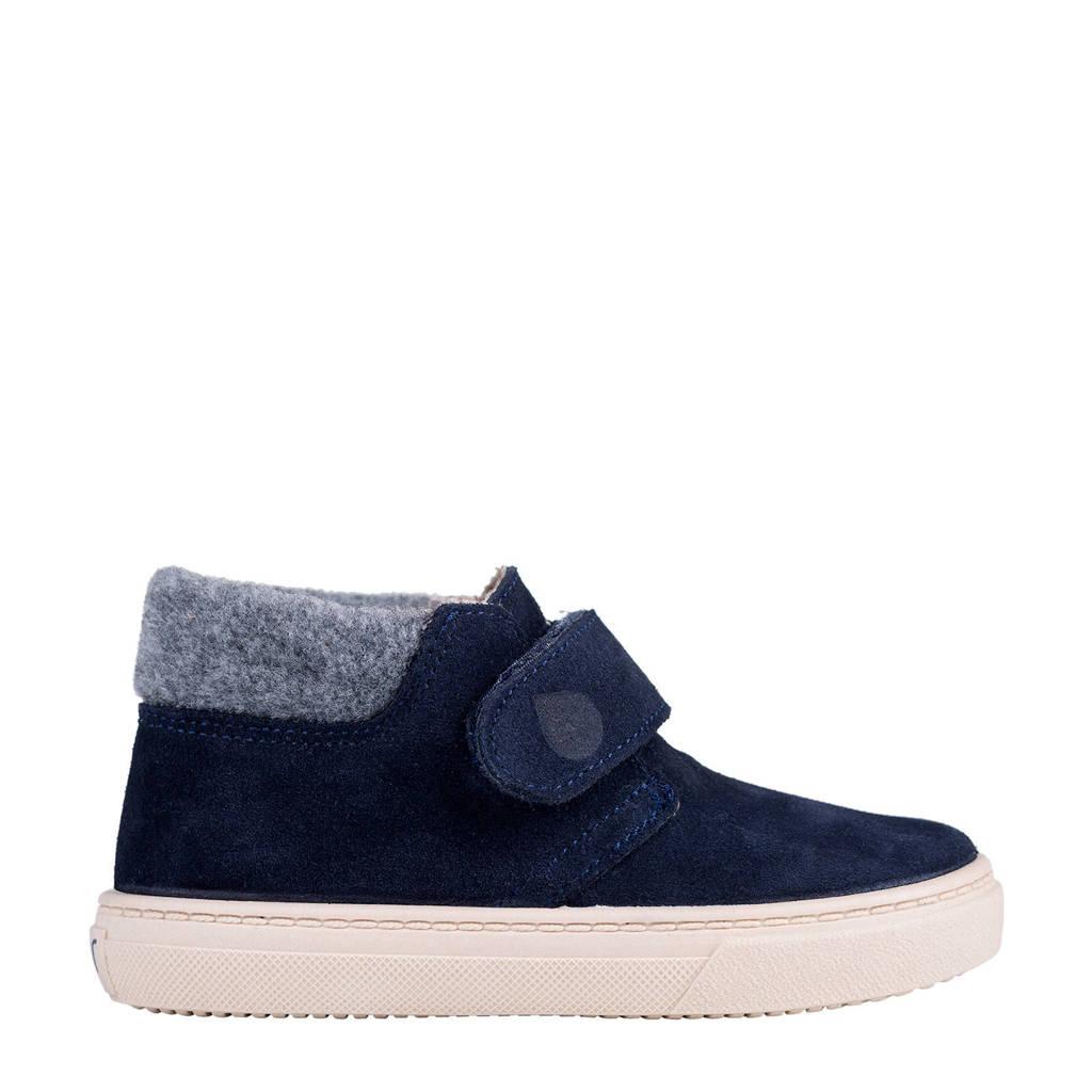 Igor W10198  halfhoge suède sneakers blauw, Blauw