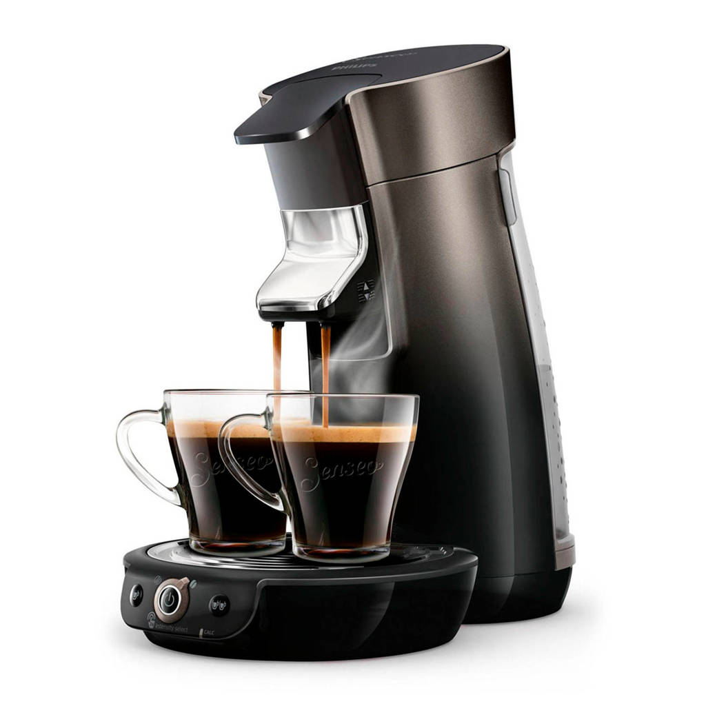 Philips  Viva Café Duo Select koffiezetapparaat HD6566/50, Zwart