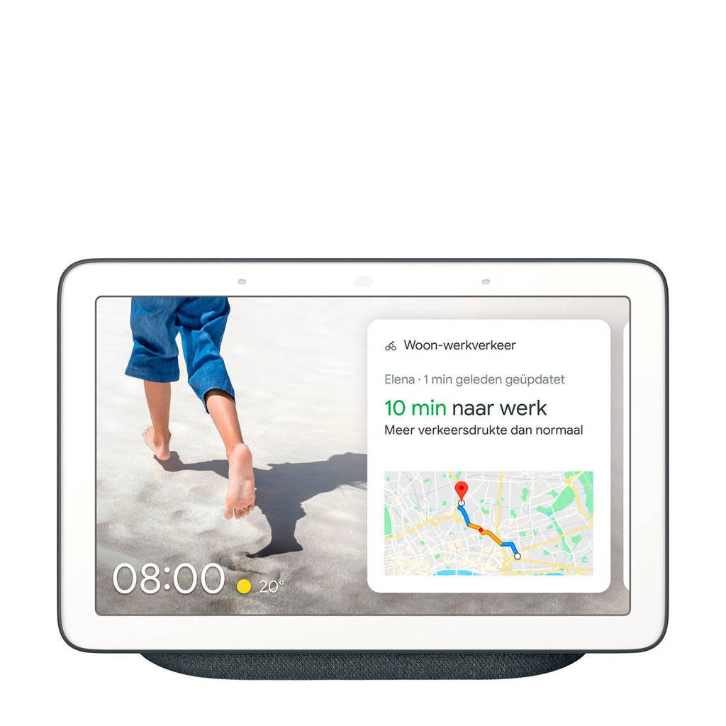 Google Nest HUB smart speaker met scherm, Antraciet