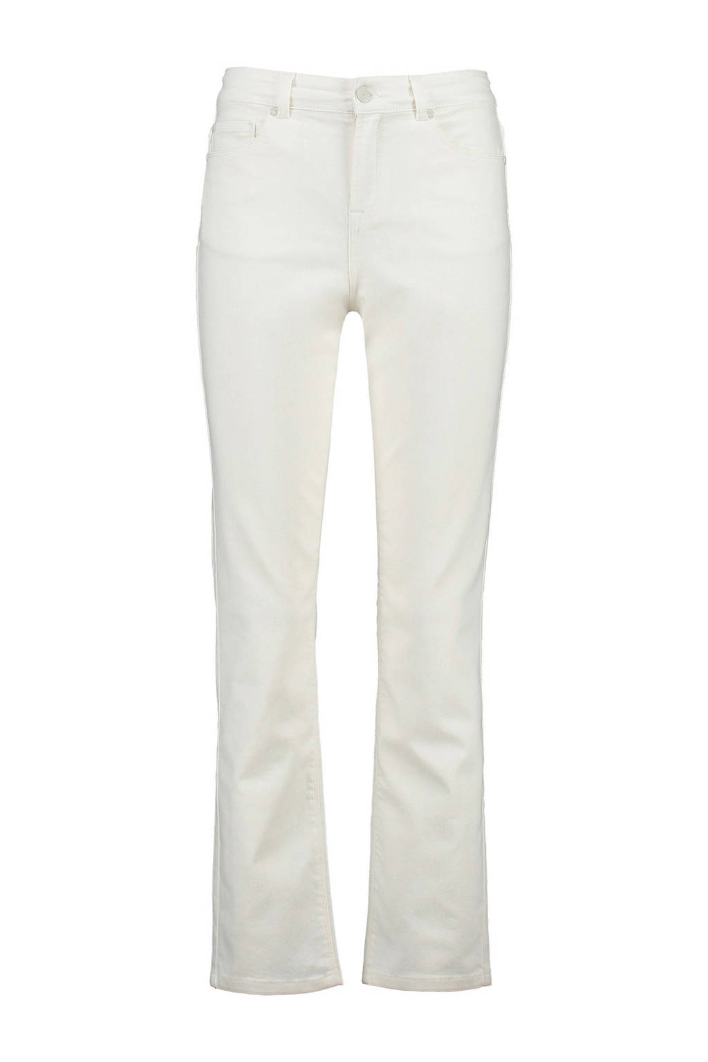 CKS cropped straight fit jeans, Wit