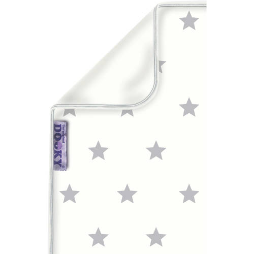 Dooky Blanket Silver Stars-White