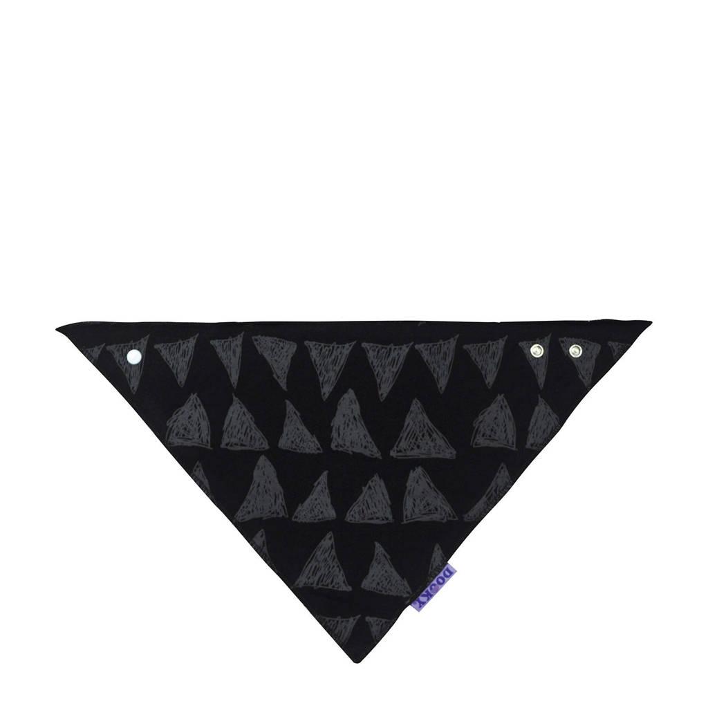 Dooky bandana slab zwart/grijs, Zwart/grijs