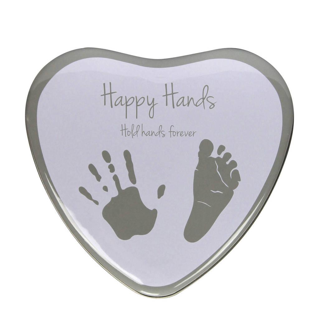 Happy Hands gipsafdruk in blik, Wit