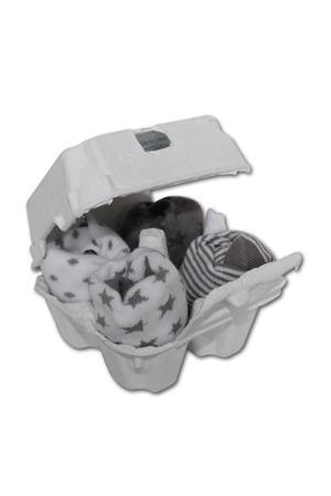 babysokjes 4-12 maanden grijs