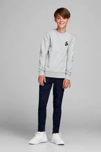 JACK & JONES JUNIOR sweater met logo lichtgrijs melange, Lichtgrijs melange
