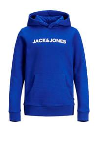 JACK & JONES JUNIOR hoodie Corp met logo blauw/wit, Blauw/wit