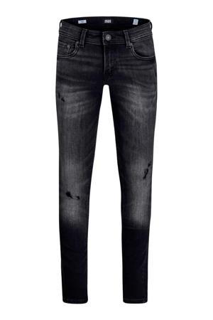 JUNIOR skinny jeans Liam met slijtage zwart