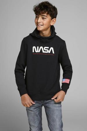 hoodie met printopdruk zwart/wit/rood