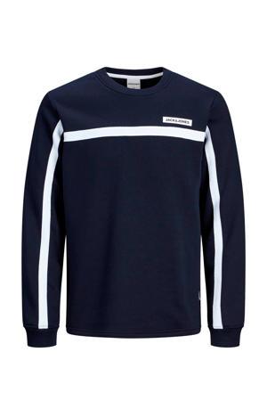 JUNIOR sweater donkerblauw/wit