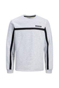 JACK & JONES JUNIOR sweater grijs melange/zwart, Grijs melange/zwart