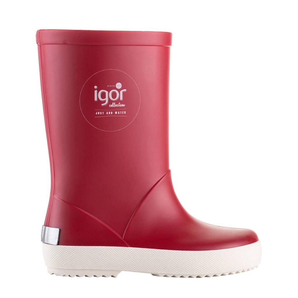 Igor   regenlaarzen rood kids, Rood