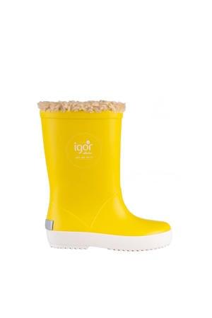 regenlaarzen gevoerd geel kids