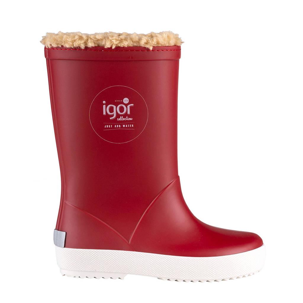 Igor   regenlaarzen gevoerd rood kids, Rood
