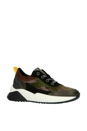 192-1518lp  leren sneakers camouflage
