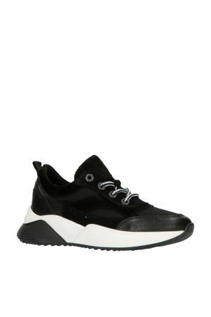 192-1518lp  leren sneakers zwart
