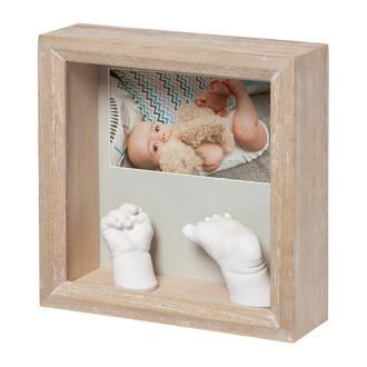 My Baby Sculpture Wooden Frame 3D gipsafdruk