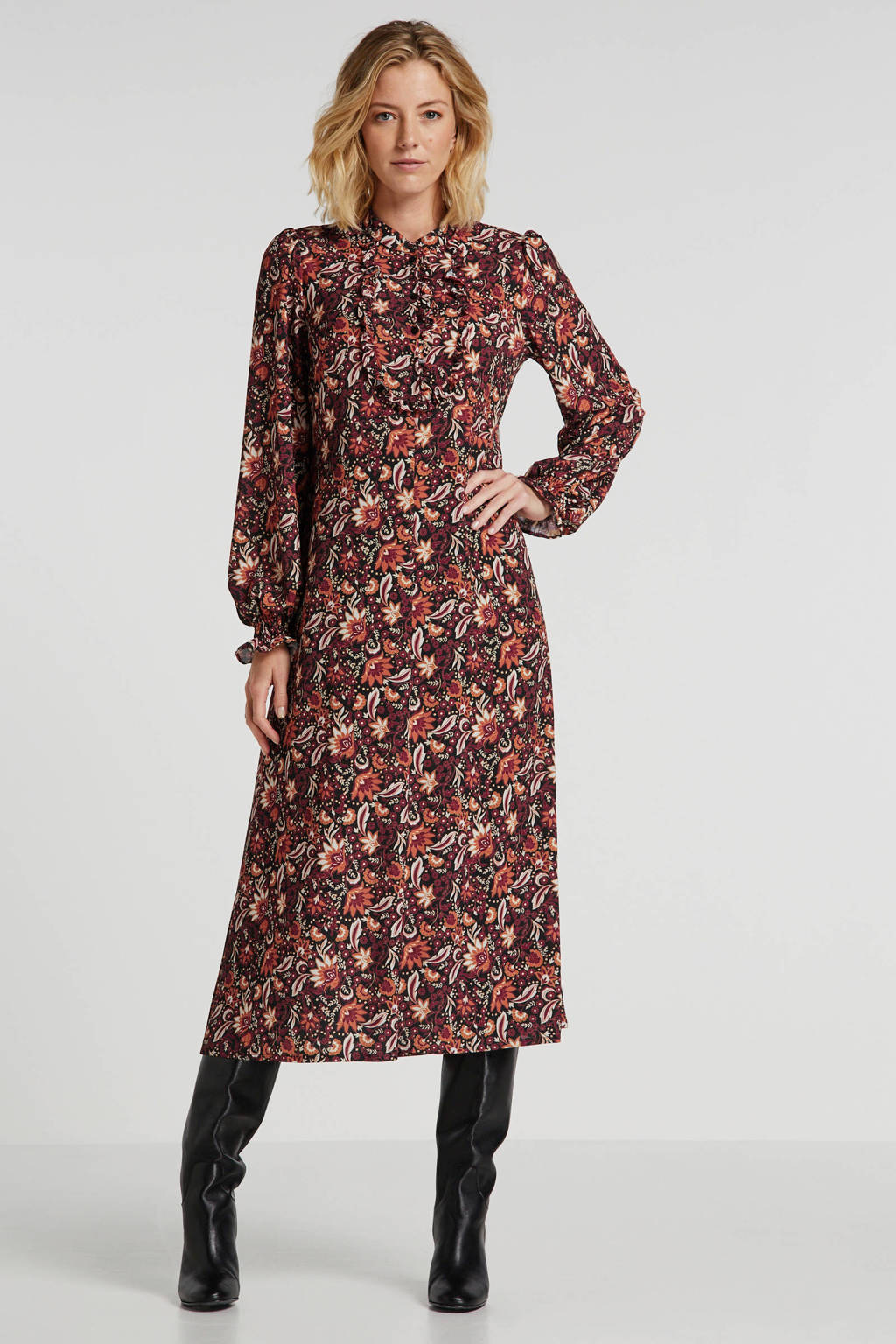 Summum Woman gebloemde blousejurk multi, Multi