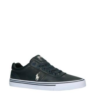 Hanford leren sneakers donkerblauw