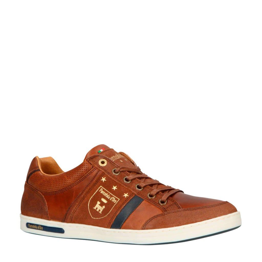 Pantofola d'Oro  Mondovi Uomo Low  leren sneakers bruin, Bruin/cognac