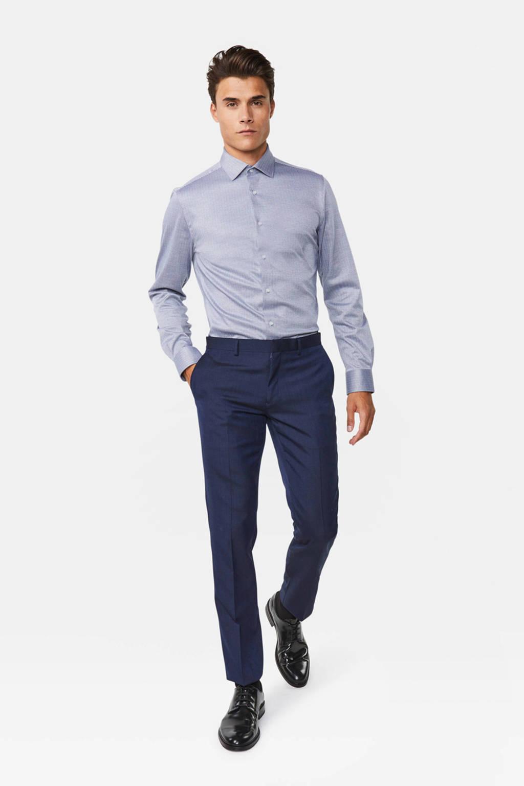 WE Fashion slim fit overhemd dusty blue, Dusty Blue