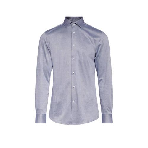 WE Fashion slim fit overhemd dusty blue