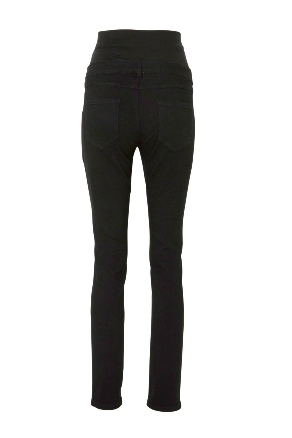 C&A The Denim low waist skinny zwangerschapsbroek zwart, Zwart