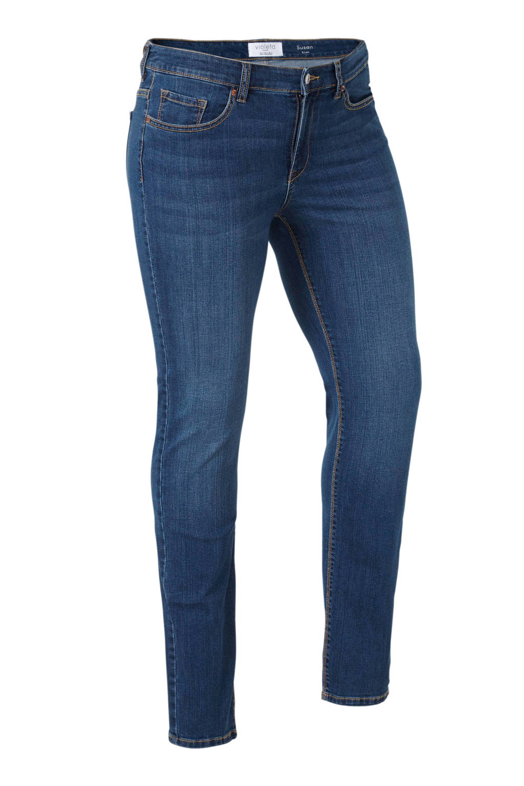 Violeta by Mango slim fit jeans Susan, Dark denim