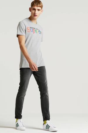 gemêleerd T-shirt grijs