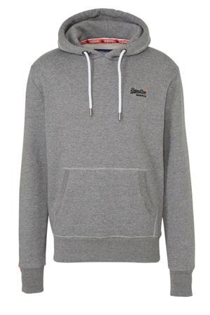 gemêleerde hoodie grijs