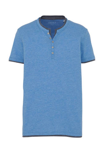 regular fit T-shirt blauw