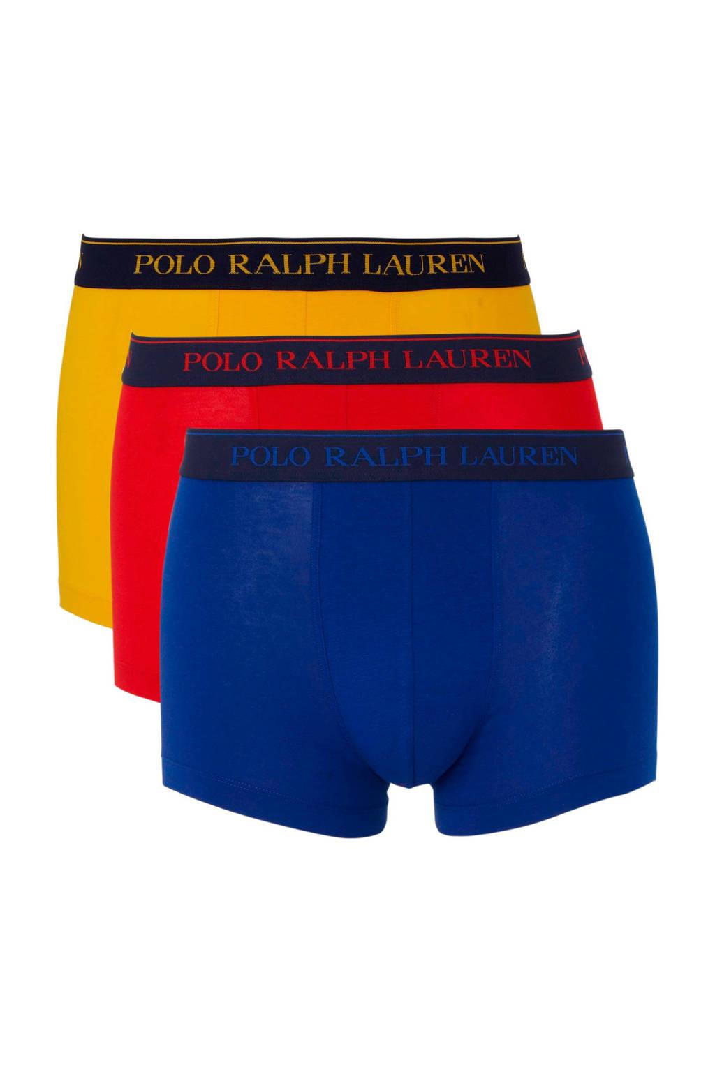 POLO Ralph Lauren boxershort (set van 3), Blauw/geel/rood