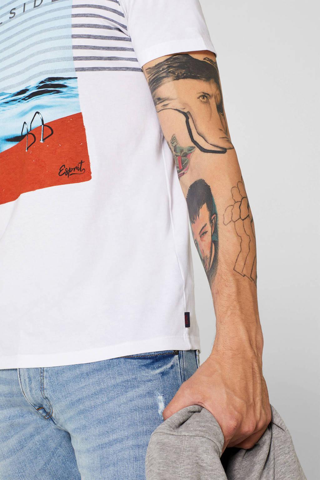 ESPRIT T-shirt met printopdruk wit, Wit