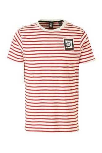 Amsterdams Blauw T-shirt met streepdessin rood