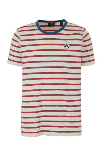 Amsterdams Blauw gestreept T-shirt grijs