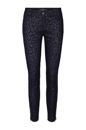 skinny broek met panterprint blauw