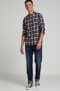 Superdry geruit regular fit overhemd donkerblauw, Donkerblauw
