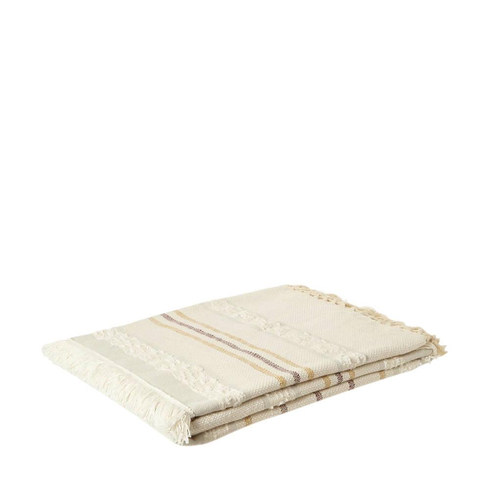 whkmp's own plaid (170x130 cm), Crème, Bruin